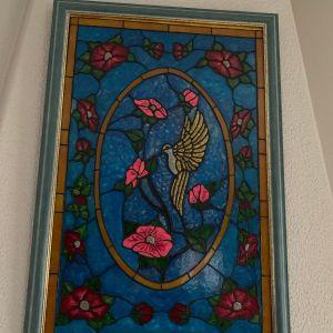 Χειροποίητο έργο ζωγραφικής σε γυαλί