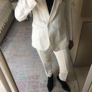 Εκρού κοστούμι λινομεταξο - Rococo