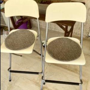 2 πτυσσόμενας καρέκλες-σκαμπό μπαρ IKEA μοντέλο FRANKLIN