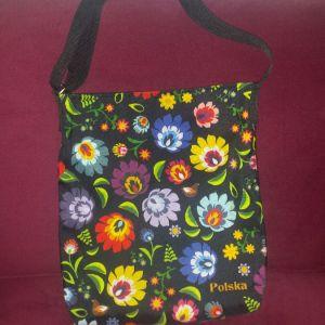Τσάντα shopping με χιαστί λουρί