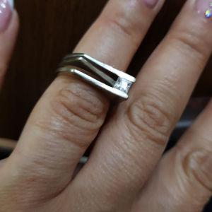 Ασημένιο δαχτυλίδι με zircon