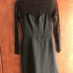 Μαύρο φόρεμα Zara με δαντέλα