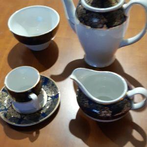 πληρες σερβιτσιο καφε vintage πορσελανης Αγγλιας