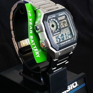 Casio - AE1200WHD-1A - World Time for 31 time zones 48 cities + UTC.