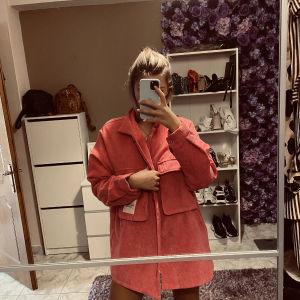 Φόρεμα - πανωφόρι ροζ