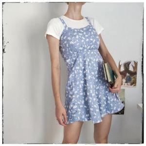 [ ΦΟΡΕΜΑ ] Floral mini dress  || Φλοραλ γαλαζιο φορεμα