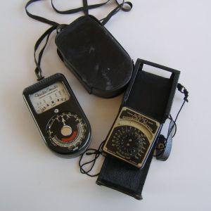 Δύο vintage φωτόμετρα
