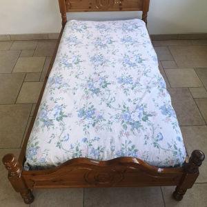 ξύλινο κρεβάτι μονό 1μ Χ 2μ