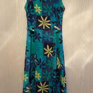 Verdosa Γαλλικό Μαξι Φόρεμα. 100 Μετάξι. Νο 40 // Small