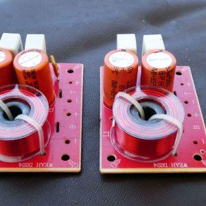 6 Crossovers στα 8Ωμ, τα δύο 100 Watt, τα 4 άλλα 60 Watt
