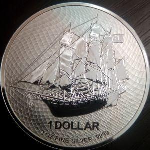 Bounty 2020 1 oz silver coin 1 $cook islands 2020
