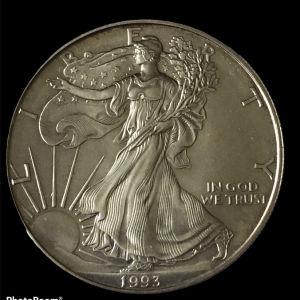USA 1 oz silver  1993
