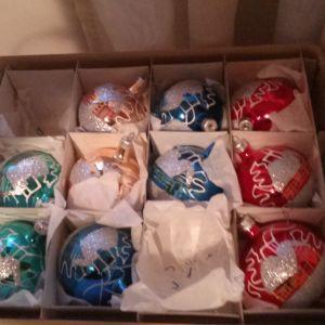 Χριστουγεννιατικες μπαλες vintage