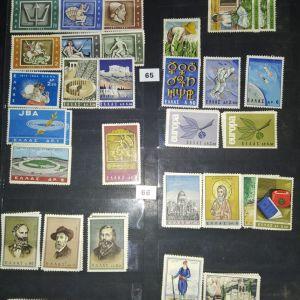 Γραμματοσημα, ολες οι ασφραγιστες πληρεις σειρες 1960-1988(εχω περιγραφη)