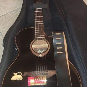Ηλεκτροακουστική κιθάρα SLIM LAG Tramontane T100ASCE-BLK + Δώρα