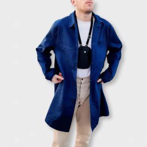 Καμπαρντίνα - ελαφρύ πανωφόρι μπλε Large!