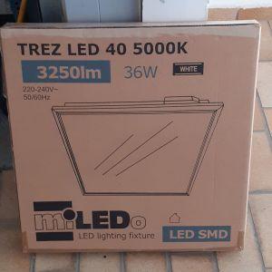 2 x LED panel φωτιστικά 595x595cm 36Watt