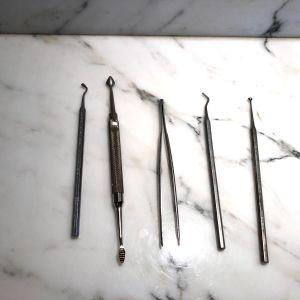 Συλλεκτικό σετ 5 οδοντιατρικών γερμανικών και ιταλικών εργαλείων
