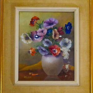 Ελαιογραφία   Λουλούδια σε βάζο   Σε κορνίζα   53x43