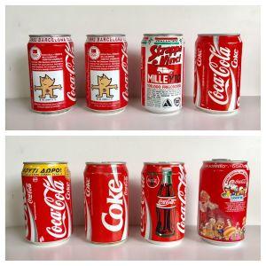 Μπουκάλια - κουτάκια Coca Cola