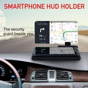 Βάση Κινητού με Οθόνη Αντανάκλασης - Καθρέπτη Αυτοκινήτου Αντιολισθητική HUD Head Up Display - Universal Smartphone Holder & HUD Display