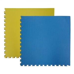 Puzzle mat δαπεδο Κίτρινο Μπλε 100x100x4