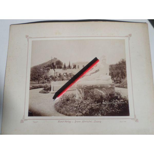 palies fotografies. kerkira, achillio. fotografia - almpoumina epikolimeni se chartoni. etos 1899. diastasis 31,50 ch 41,50 ekatosta. se poli kali katastasi