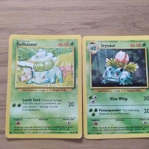 Κάρτες Pokemon Bulbasar+Ivysar