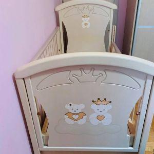 Παιδικό κρεβάτι και  συρταριέρα & αλλαξιέρα  NEK Baby Αριέλα