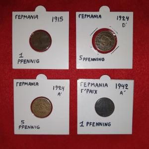 # 2-Νομισματα Γερμανιας,αρχες 1900 εως 1942