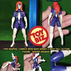 1994 MARVEL COMICS IRON MAN SERIES 5 INCH TALL ACTION FIGURE : SPIDER-WOMAN Φιγούρα Αυθεντική TOYBIZ