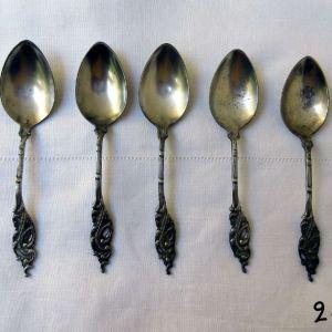 Ασημένια Κουταλάκια γλυκού Αντίκα από Αλεξάνδρεια Αιγύπτου