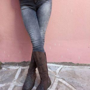 μαύρο -ξεθωριασμένο τζιν παντελόνι