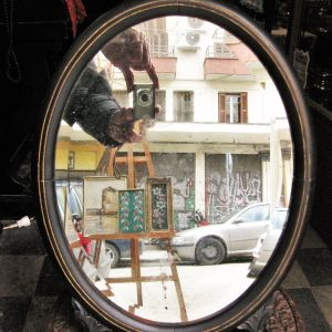 Καθρέφτης επιτραπέζιος αντίκα