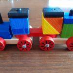 Ξύλινο Τρένο Με Τουβλάκια