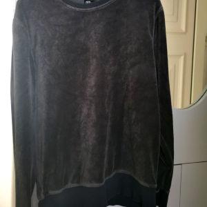 Μπλούζα βελουτέ μαύρη unisex