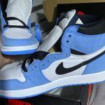 Jordan 1 retro high white unc blue black