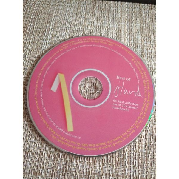 CD mousiki *BEST OF ISLAND* N- 1, COLLECTION OUT OF 10 SUMMER SOUNDTRACKS.