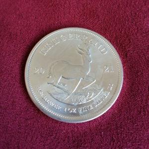 Krugerrand Silver coin 1 oz!!