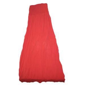 Μακρύ strapless κόκκινο φόρεμα