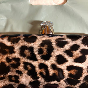 Leopard βραδινή τσάντα