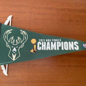 Σημαία Giannis Antetokounmpo Milwaukee Bucks 2021 NBA Finals Champions 30 cm x 75 cm Limited Edition Made in the U.S.A.