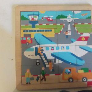 Παιδικό Παζλ με Αεροπλάνο