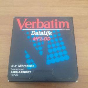 """ΔΙΣΚΕΤΕΣ VERBATIM DATALIFE MF2-DD 3 1/2 """" (DOUBLE DENSITY)"""