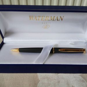 WATERMAN FRANCE PARIS Ballpoint Pen Black & Gold in box. Κωδ. 1007 BP. Δεν έχει χρησιμοποιηθεί ποτέ. Από την προσωπική μου συλλογή