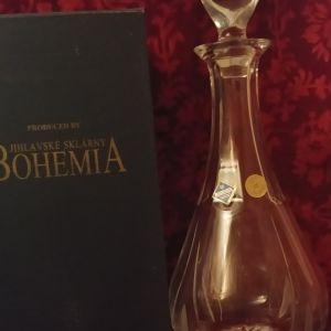 Καραφα κρασιού, βαρύ κρύσταλλο Bohemias