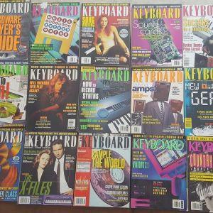"""Περιοδικά """"KEYBOARD"""" (USA edition) 30 τεύχη"""