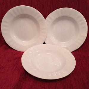 Παλαιά βαθιά κεραμικά πιάτα, ΚΕΡΑΜΙΚΟΣ - ΕΛΛΑΣ (3τμχ).