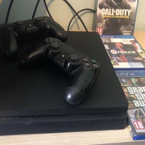PS4 Slim 1TB 2 μοχλοί 3 παιχνίδια