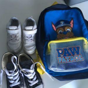 Παιδικά παπούτσια Nike και σταρακια μαζί με τσάντα paw patrol
